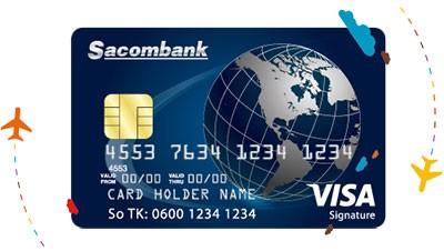 làm thẻ visa Sacombank