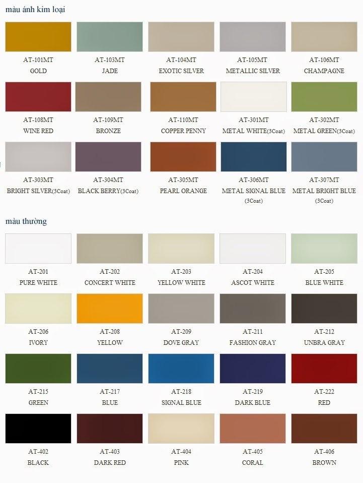 Bảng mã màu khá đa dạng của alu Hà Linh