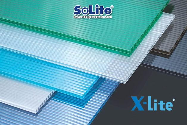Tấm Lợp Poly Rỗng Ruột Solite và X-Lite