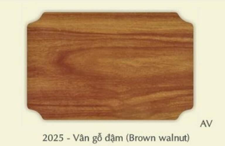 EV2025 tấm alu vân gỗ nâu