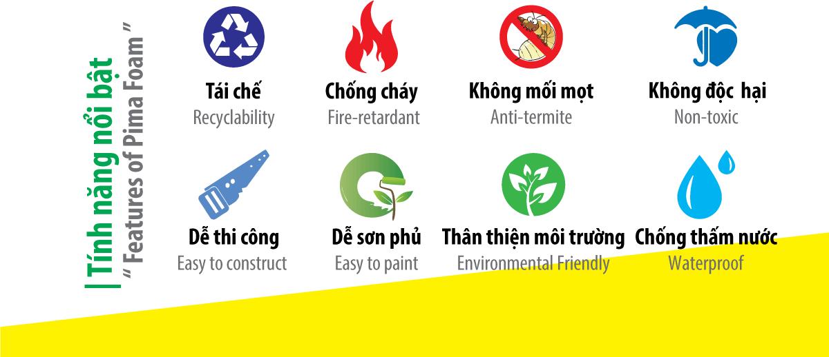 Ưu điểm nổi bật của tấm Nhựa PVC Pima