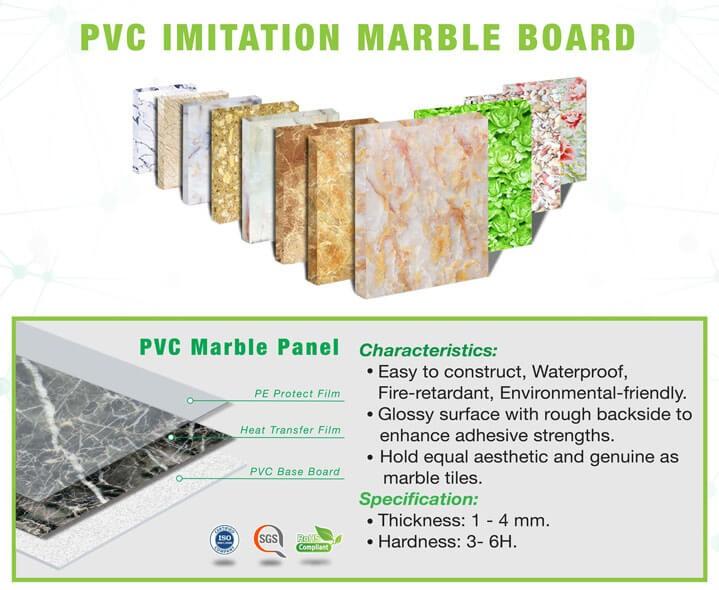 Ưu điểm của tấm PVC vân đá