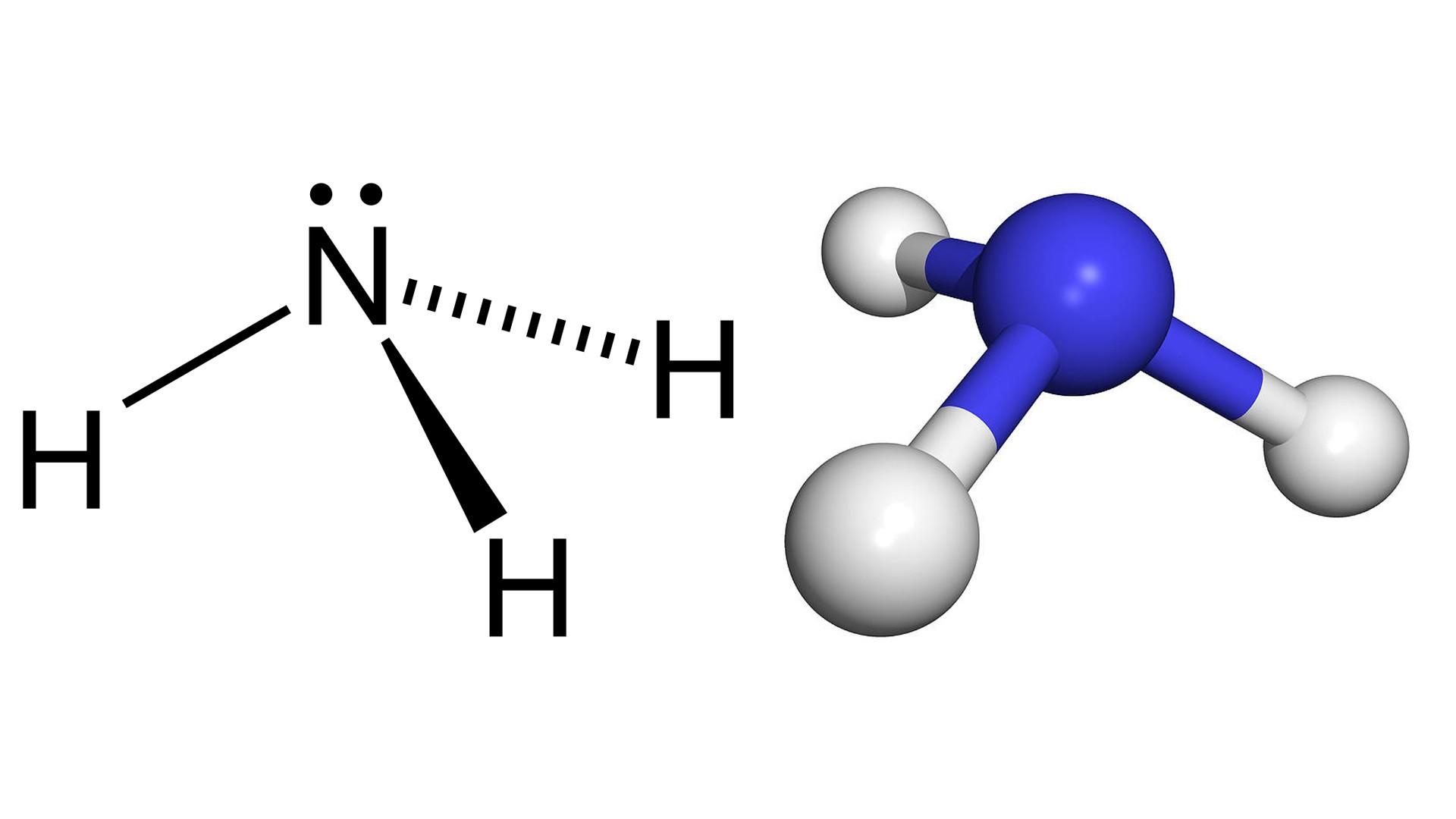 Công thức phân tử NH3