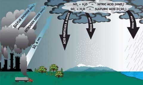 Nguyên nhân và khí gây mưa axit