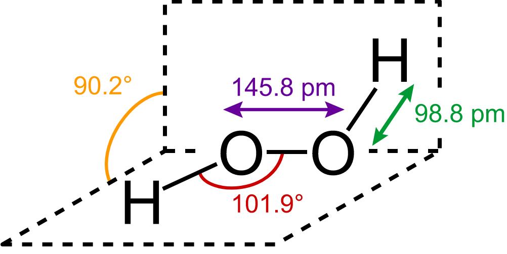 liên kết các phần tử của oxy già