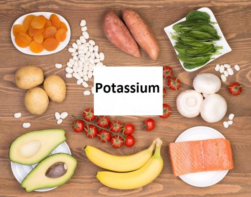 Potassium là một loại khoáng chất có tự nhiên trong nhiều loại thực phẩm