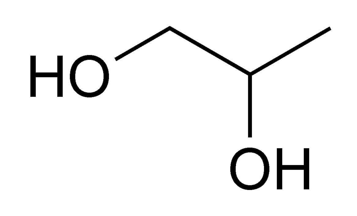 Cấu trúc phân tử của Propylene glycol