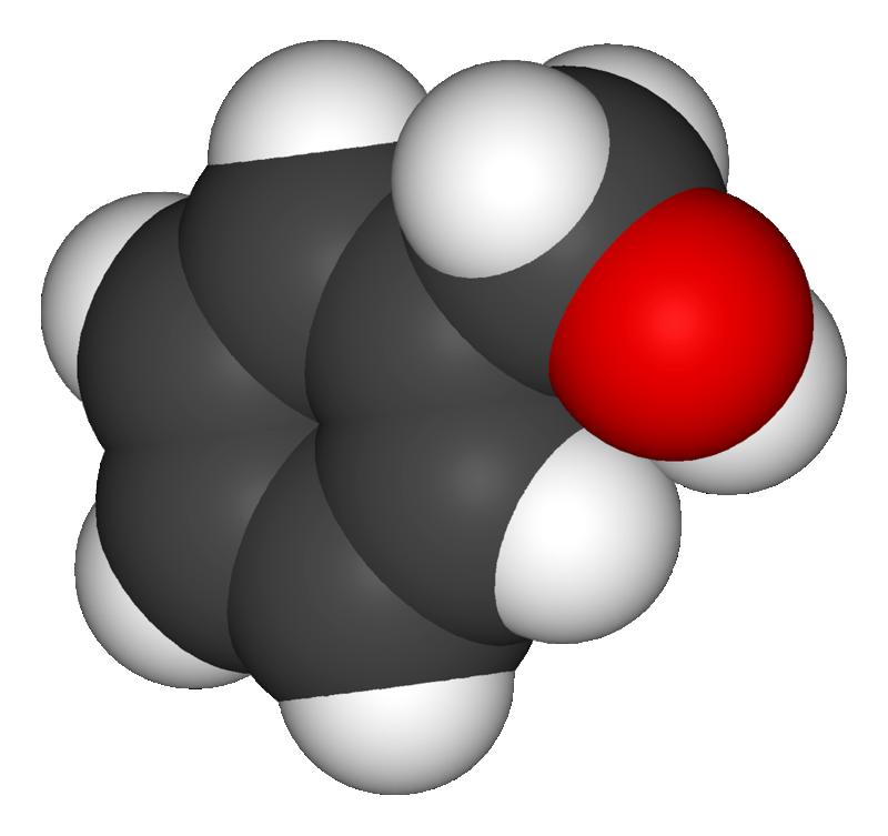 Cấu tạo phân tử Benzyl alcohol