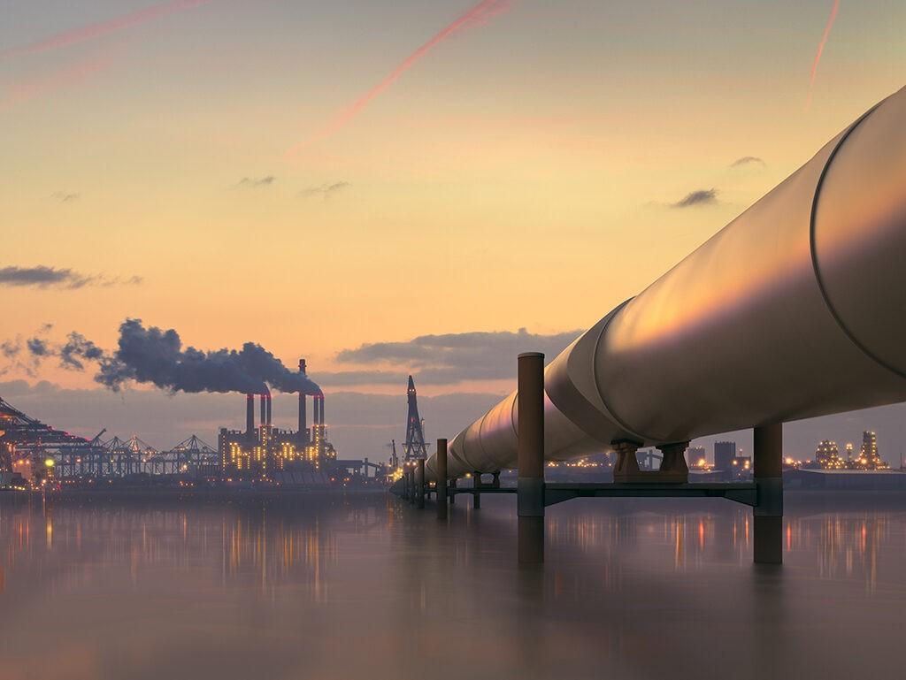Khí thiên nhiên sẽ được vận chuyển bằngđường ống dẫn khíđến nhà máy