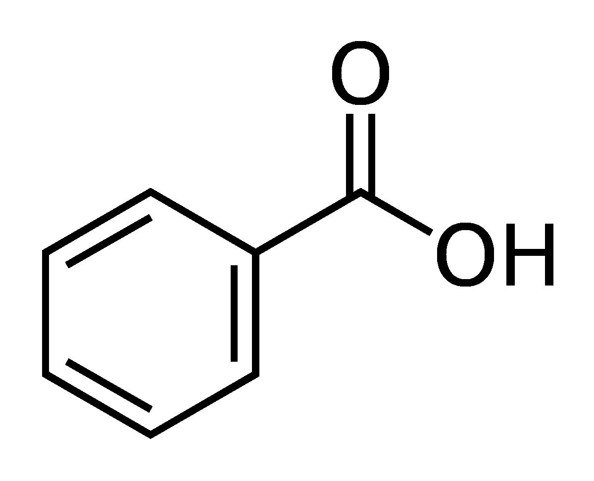 Công thức cấu tạo của axit benzoic