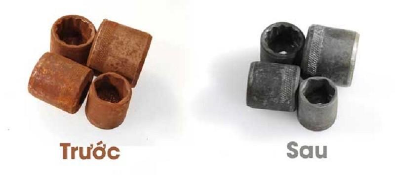 HCl hỗ trợ trong việc tẩy gỉ sắt thép