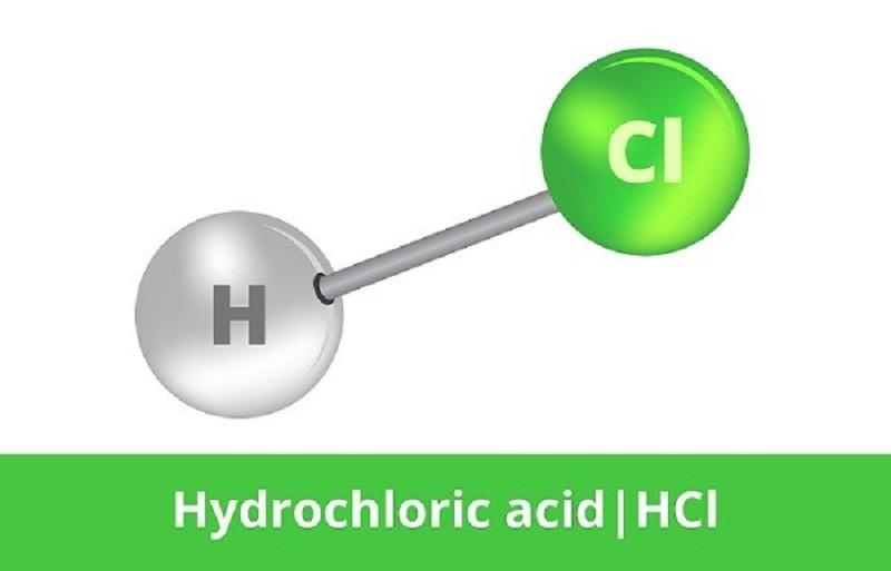 Công thức hóa học của axit clohidric là HCl