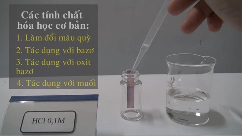 Một số tính chất hóa học của HCl