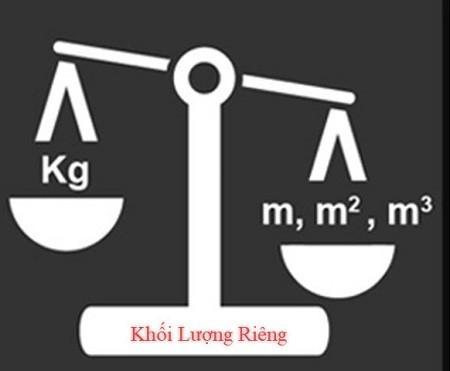 Công thức tính khối lượng riêng là gì