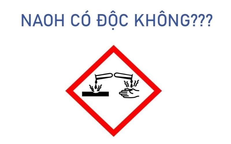 Xút NaOH là một hợp chất được cảnh báo về độ độc hại với con người