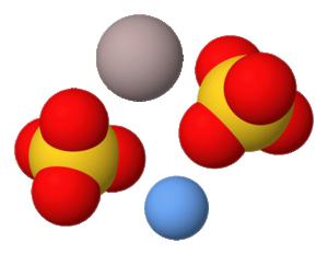 Công thức cấu tạo phân tử của phèn chua