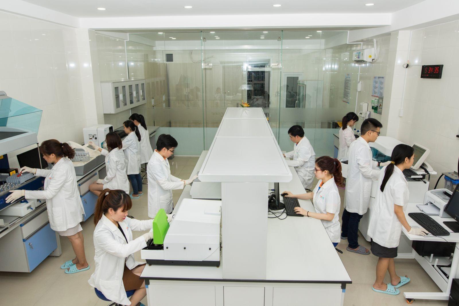 Kích thước không gian phòng Lab đáp ứng được số lượng nhân viên tối đa cùng lúc làm việc