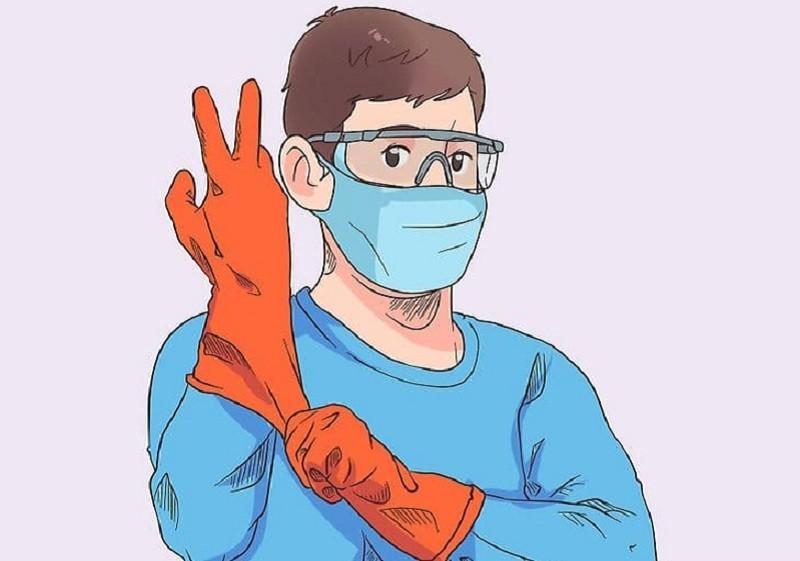 Khi sử dụng hóa chất xút NaOH cần trang bị đầy đủ đồ bảo hộ