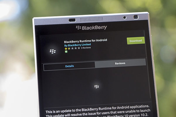 Giao diện cài đặt cho blackberry 10