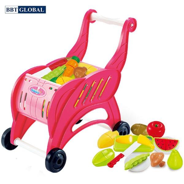 Đồ chơi nấu ăn cao cấp có xe đẩy siêu thị 889-124