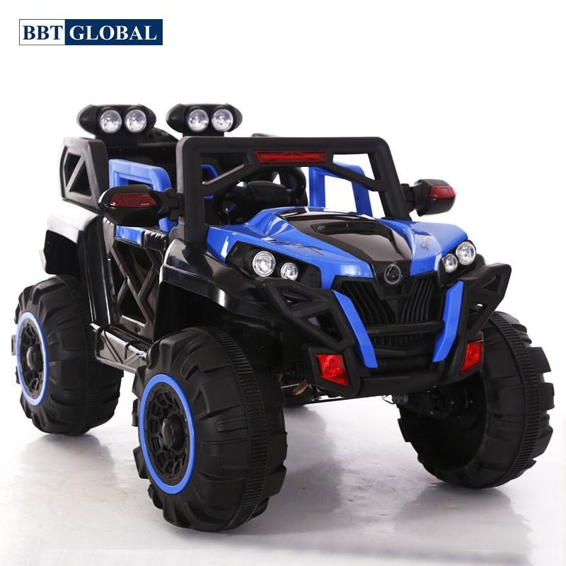 Ô tô điện trẻ em địa hình 4 động cơ màu xanh BBT-3366X