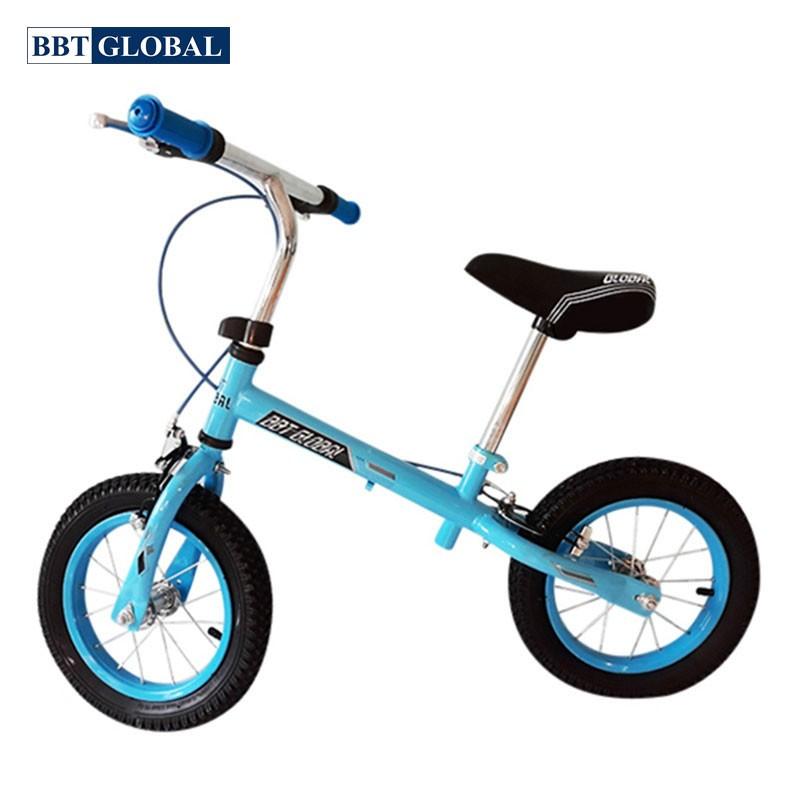 Xe chòi chân cho bé 2 bánh hơi tay phanh BL011X màu xanh