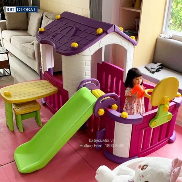 Nhà chơi cầu trượt Hàn Quốc 5 trong 1 cho bé CHD356