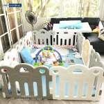 Quây cũi cho bé 8 cạnh Hàn Quốc có đồ chơi ghi HNP737-8G