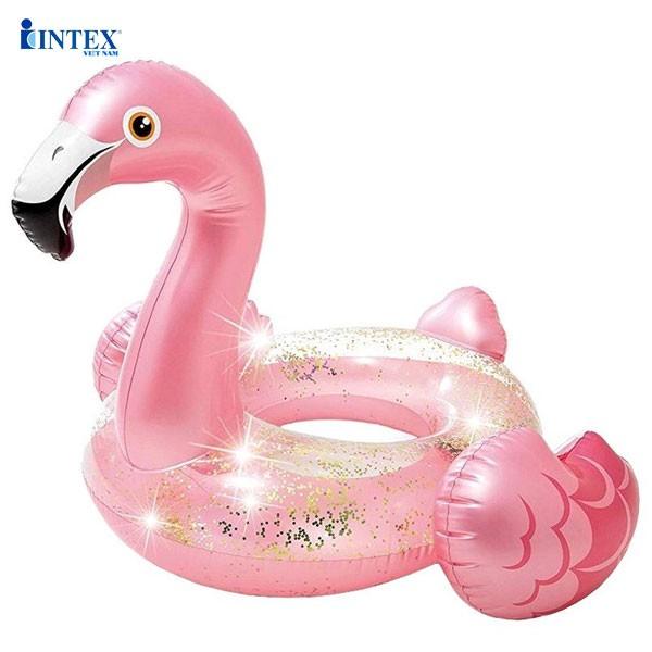 Phao bơi tròn hồng hạc INTEX 56251