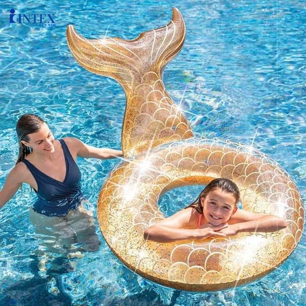 Phao bơi tròn đuôi cá cao cấp INTEX 56258