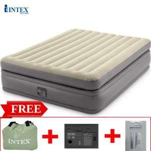 Giường hơi đôi tự phồng công nghệ mới 2 tầng INTEX 64164