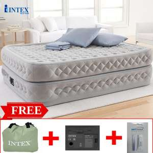 Giường hơi đôi tự phồng công nghệ mới 2 tầng INTEX 64490