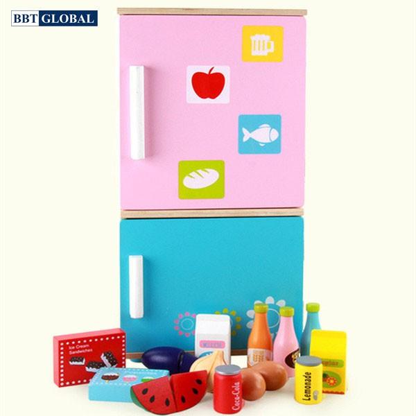Đồ chơi tủ lạnh BBT Global bằng gỗ cao cấp MSN15040