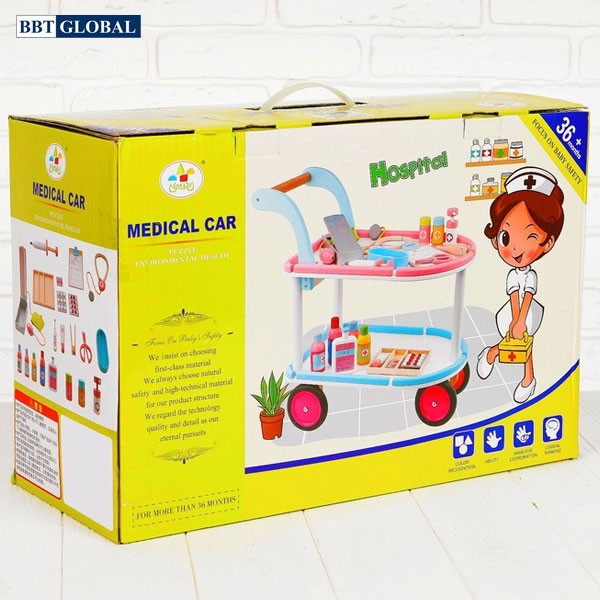Đồ chơi xe đẩy y tế BBT Global gỗ cao cấp MSN17075