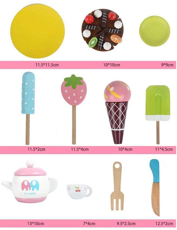 Bộ đồ chơi xe đẩy bánh kem MSN17076