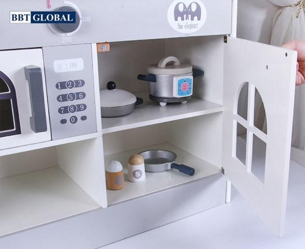 Đồ chơi nấu ăn BBT Global bếp gỗ cao cấp MSN19030