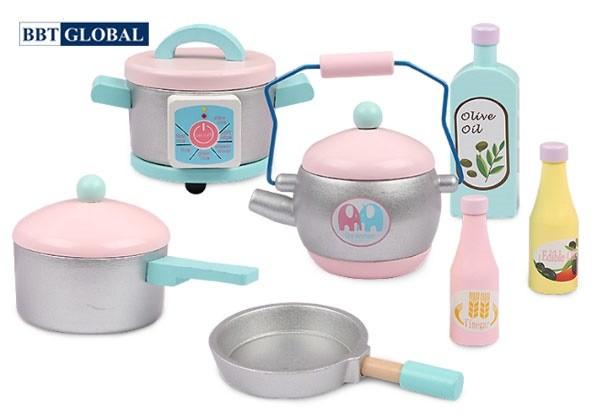 Đồ chơi nấu ăn BBT Global bếp gỗ cao cấp MSN19032