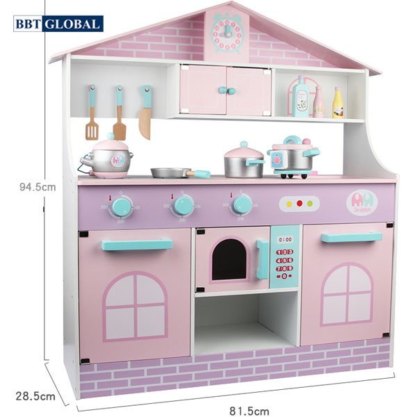 Bộ đồ chơi nhà bếp gỗ cao cấp MSN19032 | Kích thước