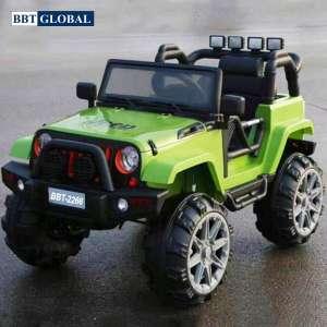 Xe oto điện trẻ em địa hình 4 động cơ màu xanh BBT-2266XL