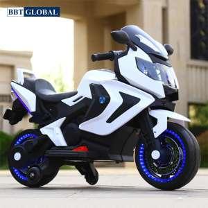 Xe máy điện trẻ em 2 động cơ màu trắng BBT-1500T