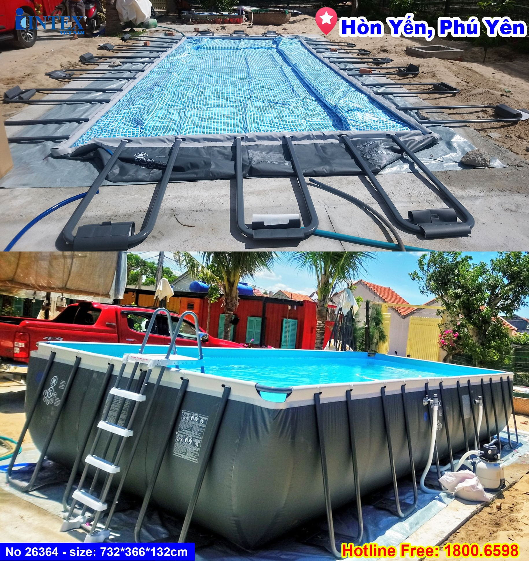 bể bơi khung kim loại INTEX 26364