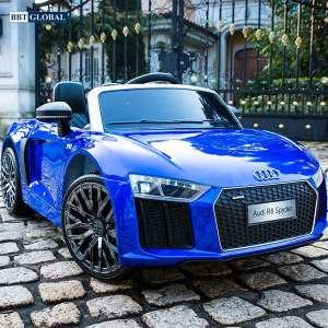 Xe điện cho bé bản quyền AUDI R8 cao cấp màu xanh Audi R8-X