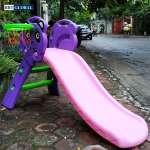 Cầu trượt gấu panda có ném bóng rổ 130cm BG9003