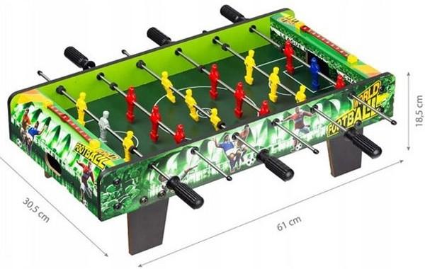 Bàn bóng đá bi lắc mini XJ808-1   Kích thước
