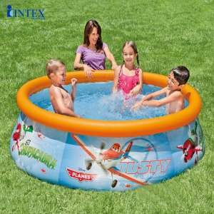 Bể bơi cổ phao 1m83 đội bay siêu đẳng INTEX 28102