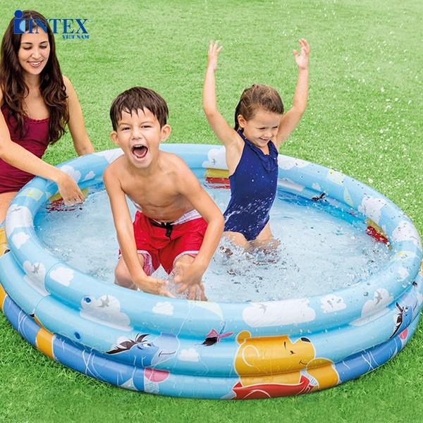 Bể bơi phao 3 tầng hình gấu Pooh INTEX 58915