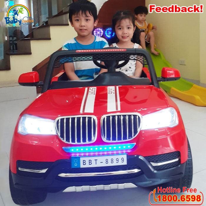 Xe Ô tô điện cho bé 2 chỗ ngồi HUMMER BBT-8899