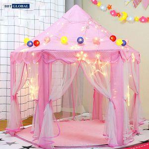 Lều công chúa cho bé gái có rèm cỡ lớn 140cm 1385