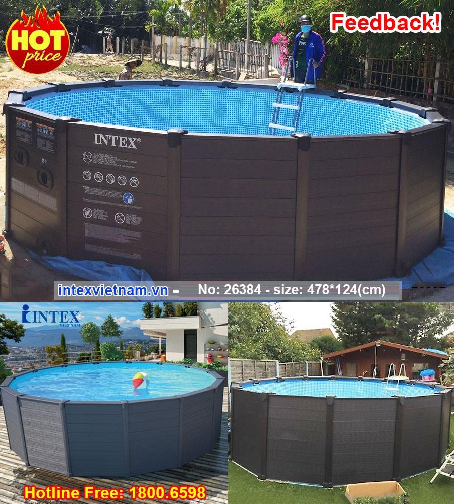bể bơi khung kim loại INTEX 26384