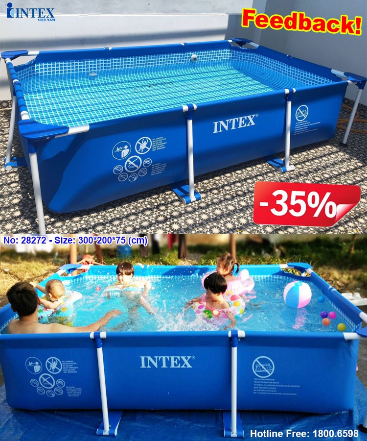 bể bơi khung kim loại cỡ vừa INTEX 28272